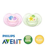 Chupetes Philips Avent Classic, simétricos, silicona, talla 1 (rosa, verde)