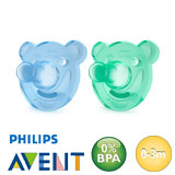 Chupetes Philips Avent Soothie, redondos, silicona, talla 1 (azul, turquesa)